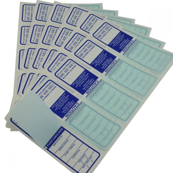 Premium Quality Water proof Blue All Purpose Test Tags complies with with AS/NZS 3760 standards.
