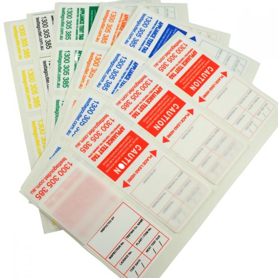 Heavy Duty Test Tags - NSW Multi-Colour Pack