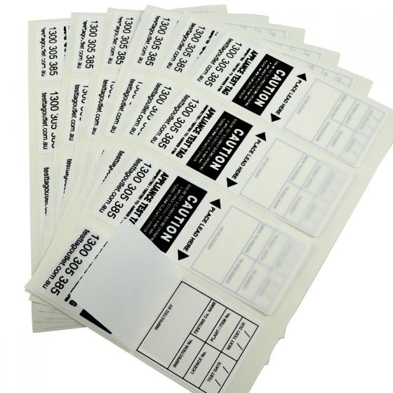 100x Heavy Duty Electrical Test Tags - Black