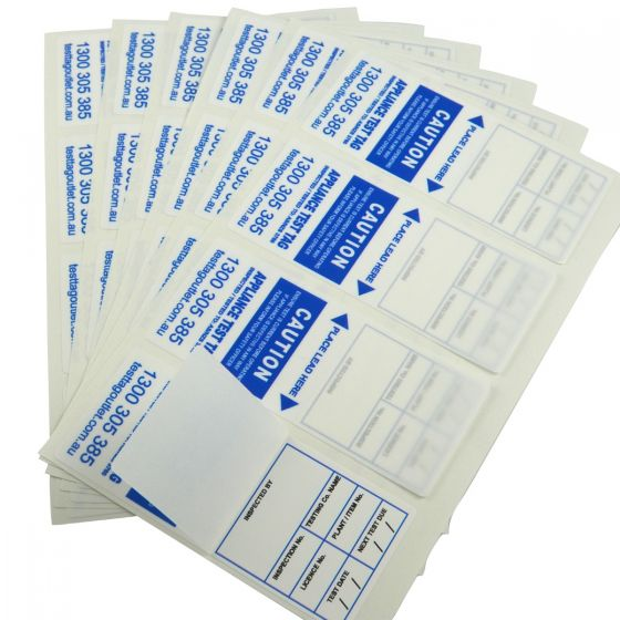 Printed, Water Proof, 100% Australian Made Heavy Duty Test Tags - Blue