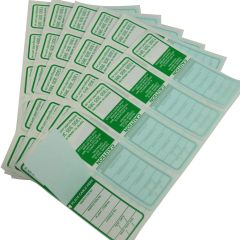 Printed Waterproof Green All Purpose Electrical Test Tags complies with AS/NZS 3760 standards.