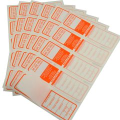 Orange Waterproof, Australian Made All Purpose Electrical Test Tags that complies with AS/NZS 3760 standards