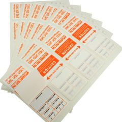 Heavy Duty Test Tags - Orange complies with AS/NZS 3760 standards