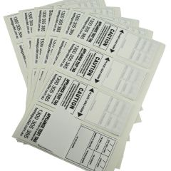 100% Australian Made, Weather Resistant, White Heavy Duty Electrical Test Tags