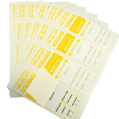 100% Australian made, Weather resistant Heavy Duty Test Tags - Yellow
