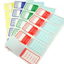 Multi-Colour pack (Red, Green Blue, Yellow) Electrical Test Tags for VIC, QLD, SA, WA and TAS