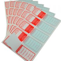 All Purpose Australian Electrical Test Tags- Red that complies with AS/NZS 3760 standards