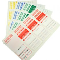 Heavy Duty Electrical Test Tags - Multi-Colour Pack