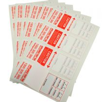 Heavy Duty Test Tags - Red comply with AS/NZS 3760 standards