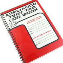 Red Appliance Electrical Test Tag Log Book